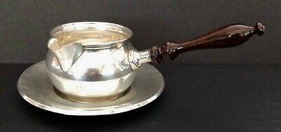 Vintage Sterling Silver Fisher Sauce Bowl With Spout & Handle On Towle Saucer