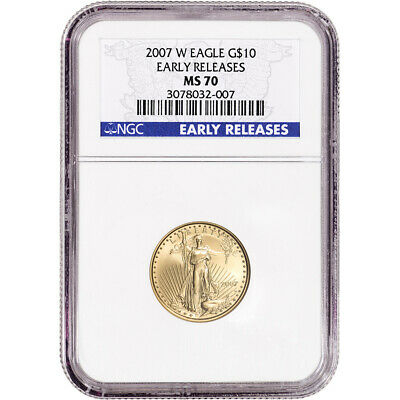 2007 W American Gold Eagle Burnished 1/4 oz $10 - NGC MS70 - Early Releases