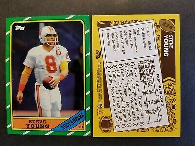 664af2a41 Steve Young Tampa Bay Buccaneers 1986 Topps rookie 2012 reprint Football  Card