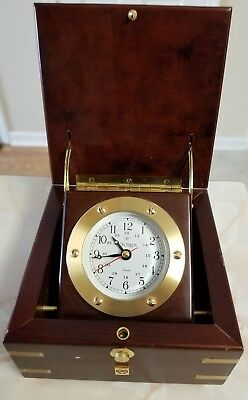 Montreux Quartz Ships Clock Desk Model