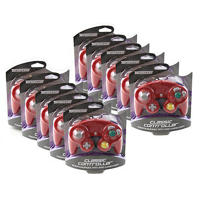 Wholesale Lot of 10 GameCube RED Rumble Controller Pad Teknogame New (Wii)