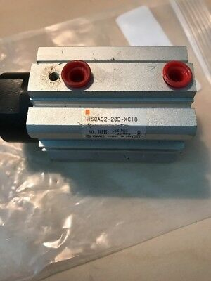 """Smc 3/4"""" Stroke Air Stopper Cylinder Rsqa32-20D-Xc18 Free Ship"""