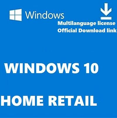 Window 10 Home Retail Version All Languages Supported