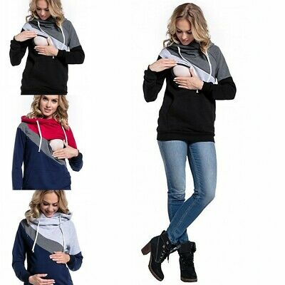 Womne Breast Feeding Nursing Maternity Top Clothes Pregnant Women Shirt Jumpers