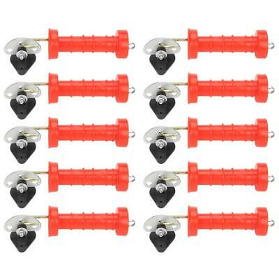 10pcs Insulated Spring Gate Handles + 10Pcs Insulators For Electric Fence