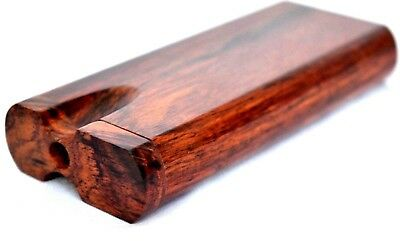 Rosewood Dugout One Hitter Stash Box w/ 3 Grinder Metal One Hitter Cigarettes