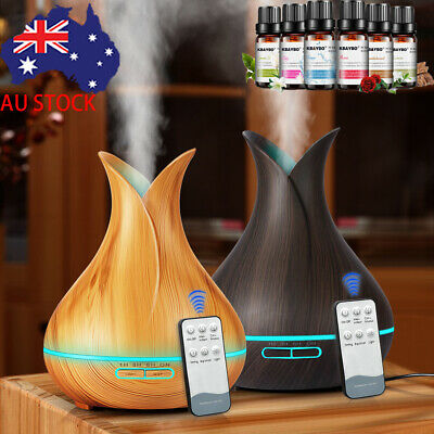 Ultrasonic Remote Air Humidifier Aroma LED Lamp Aromatherapy Diffuser Purifier