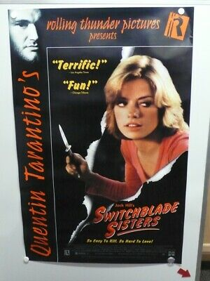 """Quentin Tarantino Presents: """"Switchblade Sisters"""" Large Home Video Poster 1975"""