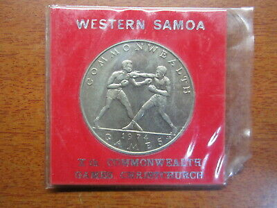 Western Samoa 1974 Commonwealth Games Boxing  $1 Coin