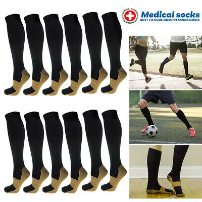 Copper Compression Socks Graduated Support DVT Varicose Travel Socks Stockings A