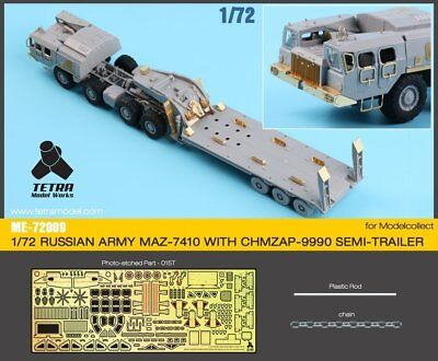 Tetra Model ME72009 1/72 MAZ-7410 & ChMZAP-9990 Detail Up Set for Model Collect