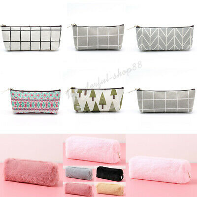22 Styles Pen Box Pencil Case Bag Storage Makeup Pouch Stationery School Student
