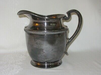 "EPNS Silverplate Water Pitcher 5 PINTS Vintage Marked F Crown 9"" Tall"