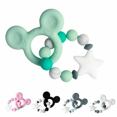 Baby Pacifier Chain Silicone Bracelet Teething Beads Teether Chewing Toy Nursing