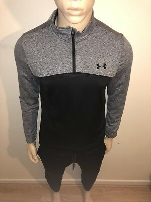 "Men's Under Armour 1/2 Zip Poly Tracksuit Long Sleeve Slim pant-top XL 42""chest"