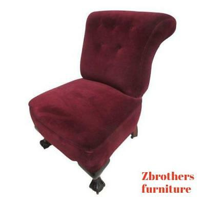 Antique Chippendale Ball Claw Mohair Fireside Lounge Club Living Room Chair A