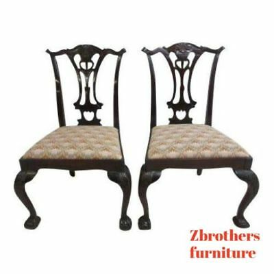 Tremendous Pair Hickory Chair Company Mahogany Ball Claw Chippendale Forskolin Free Trial Chair Design Images Forskolin Free Trialorg