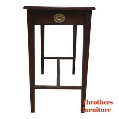 Antique Mahogany One Drawer Planter Lamp End Table Smoke Stand