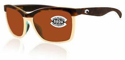 c7da1a1781 Costa Del Mar Anaa Shiny Retro Tort Cream Frame Copper 580G Glass Polarized  Lens
