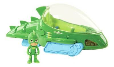 PJ Masks Deluxe Gekko Vehicle with 7.5cm Figure With Working Headlights NEW_UK
