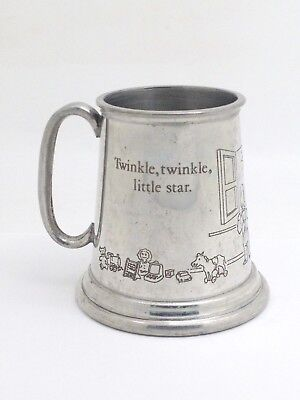 TML English Pewter Nursery Rhyme Etched Child's Cup Twinkle Twinkle Little Star