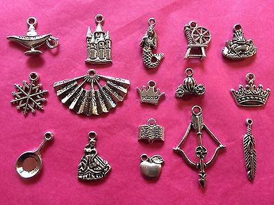 Tibetan Silver Fairytale Princess Themed Mixed Charms 16 per pack