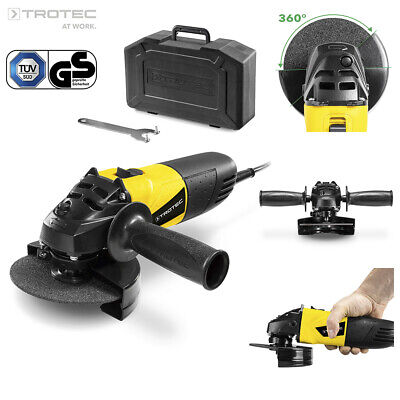 TROTEC Electric Angle Grinder PAGS 10-115 | Cutting Grinding Tool ø 115 mm 500 W