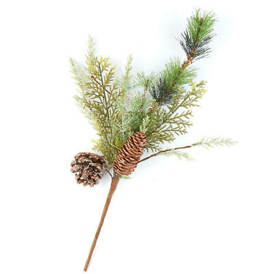 Sparkling Frosted Mixed Pine Sprays with Pine Cones | 2 Sprays