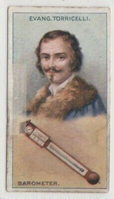 Toricelli Barometer Inventor Italy Galileo Physics  90+ Y/O Trade Ad Card