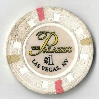 The Palazzo-$1.00 Casino Chip-Las Vegas,Nv-White-One 1/2 Inches Width