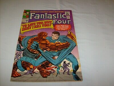 FANTASTIC FOUR 42 KIRBY LEE SILVER AGE CLASSIC MARVEL BEN GRIMM v REED G/VG-