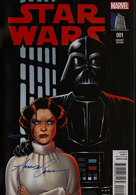 SIGNED Star Wars #1 Marvel Amanda Conner Art Variant Exc ~ Carrie Fisher Cover