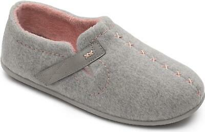 Padders APRES Ladies Womens Slip On Felt Extra Wide (2E 3E) Full Slippers Grey