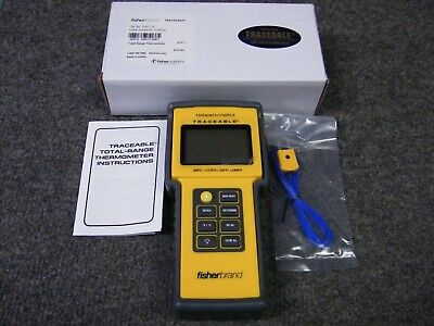 Fisherbrand Traceable Total-Range Thermometer 15-077-14 ** Brand New **