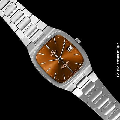 1980 OMEGA SEAMASTER Vintage Copper Brown Dial Mens SS Watch - Mint w/ Warranty