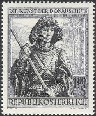 Austria 1965 St George/Saints/Religion/Art/Drawings/Artists/People 1v (at1112a)