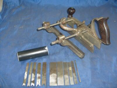19th century Stanley No 45 combination plane Type 4 with blades 1890-92