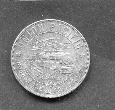 1940 Union Pacific Aluminum Lucky Piece Road of the Challengers