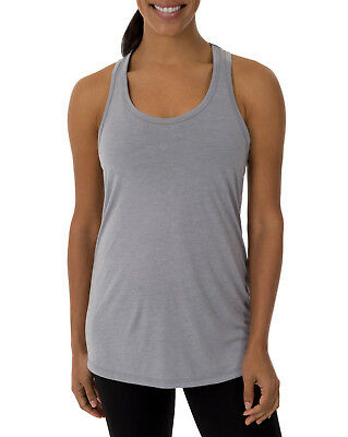 c26b693b28e58 NEW Womens Athletic Works Core Active Gray Workout Racerback Tank XL 16-18