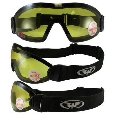 Flare Global Vision Skydive Sky Diving Goggles Yellow
