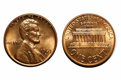 1963-D Lincoln Cent - Double Die # 1DO-022 Near Gem bu Red #321