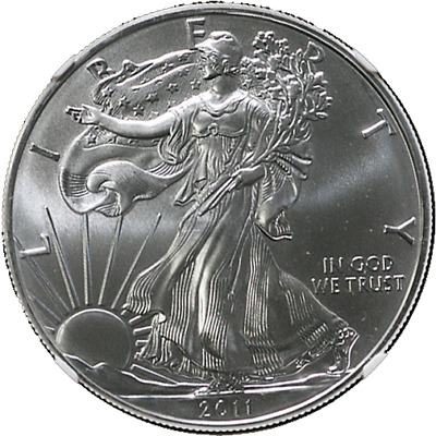2011-W 25th Anniv Silver American Eagle $1 NGC MS69 Brown Label Scales Rt. STOCK