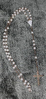 Vintage ~danty and delicate mother of pearl/opal Rosary