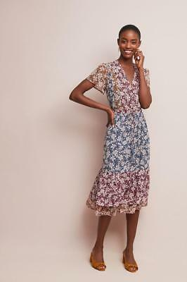 fc7d0cac1bd1 (NWOT ANTHROPOLOGIE ONE SEPTEMBER DESERT FLORAL MIDI DRESS sz XS-petite) as  is