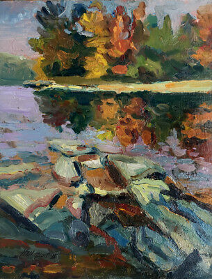Berkshire County, Lenox MA 14x11  in. Oil on panel by Hall Groat II