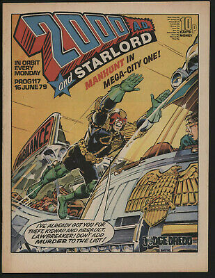 2000 Ad 117, With Starlord Comic. Dave Gibbons Art.