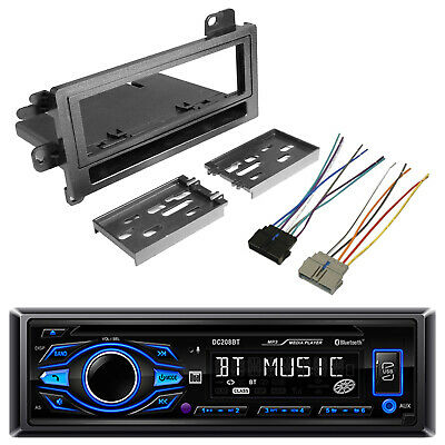 Single DIN CD Bluetooth Receiver, Kit Select 1974-Up Vehicles, Wiring Harness