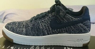 reputable site d2742 7110a Nike Air Force 1 Flyknit Low Uk 6 Bnib 820256 402 College Blue Woman AF1  White
