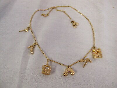 Girls Charm Necklace J Crew Cuts Crown Castle Bird Fairy Wand  Shoe Carriage