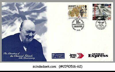 GUERNSEY / JERSEY - 1995 50th ANNIVERSARY OF LIBERATION COVER WITH CANCL.